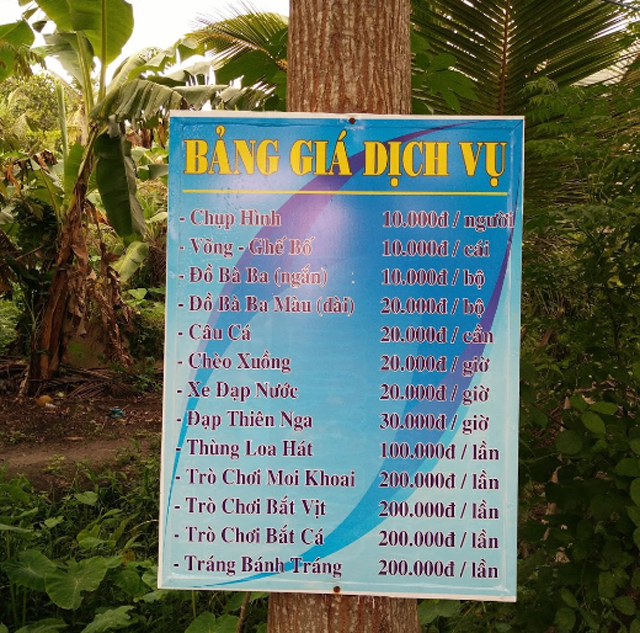 Giá vé khu du lịch sinh thái Bưng Bạc